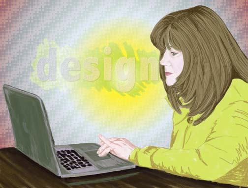 Illustration of Connie Sweet electronic design illustration