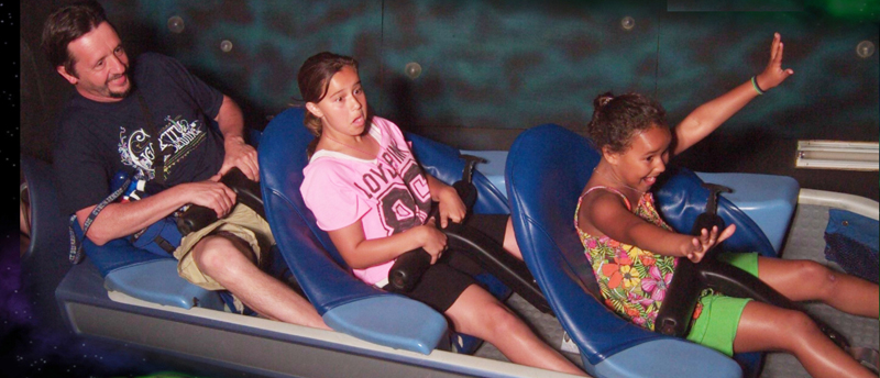 girls on rollercoaster