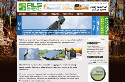 rls energy - small business website design rlsenergy.com