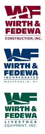 wirth-and-fedewa-construction-logo-design
