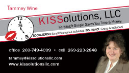 KISSolution Business Card Sample - Tammey Wine