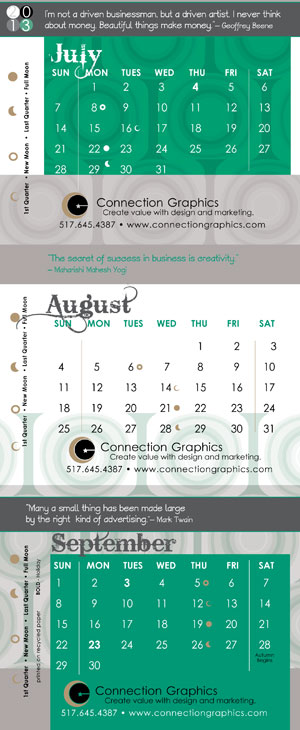Connection Grpahics Calendar sample