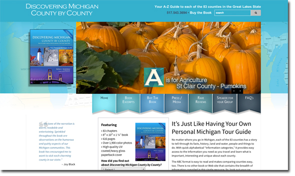 New homes page of Discovering Michigan County by County website.
