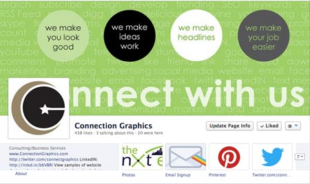 connection graphics facebook page screen capture