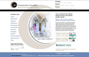 Connection Group Lansing website design old home page