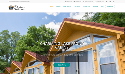 Responsive website design for resort