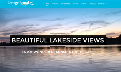 vacation rental property website design