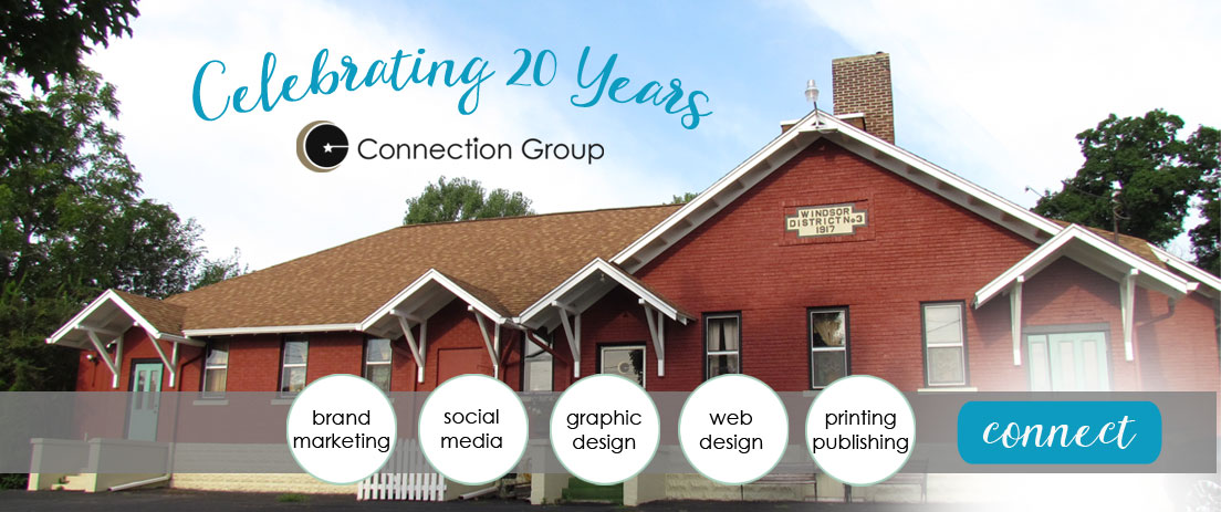 Connection Group Celebrating 20 Years in Graphics Design and Website Design