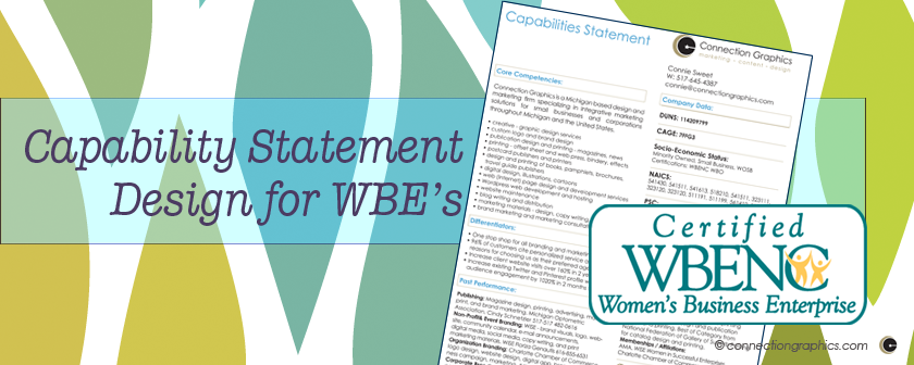 capability statement design for women owned businesses