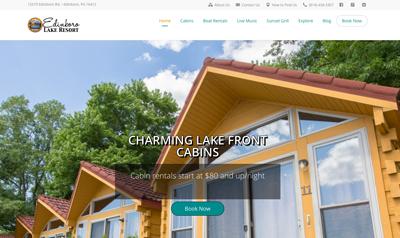 Responsive website design for resort